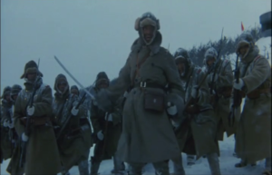 Captain Miyagi leads a charge in Manchuria