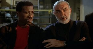 Connery and Snipes as Connor and Smith in Rising Sun