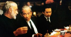 Connery and Mako in Rising Sun