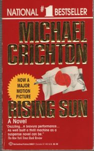 Rising Sun paperback by Michael Crichton
