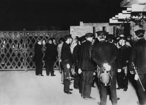Police officers around Kantei during the evening of the 5-15 Incident